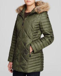 Marc New York Kameron Fur Trim Puffer Coat