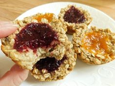 Weight watchers recipes, Simply filling Banana oatmeal jam muffins by drizzle me skinny