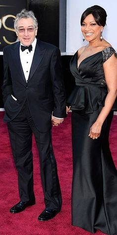 Robert De Niro and Grace Hightower #Oscars #STYLAMERICAN #RedCarpet