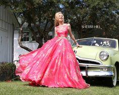 YAS GIRL #prom #promdress #floralpromdress #pink #floral #floralpinkpromdress #pinkpromdress #wedding #sherrihill #ballgown style #32259