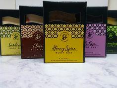 Our moisturizing Body Bars- HoneySpice, La'Rose, Lemongrass, Clove, & Gardenia. Body Bars, Lemon Grass, Rose, Essential Oils, Handmade, Products, Pink, Hand Made, Roses