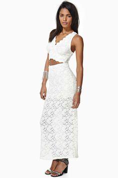 Ray Of Light Lace Maxi Dress