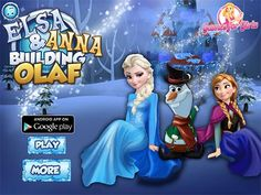 Play Elsa And Anna Building Olaf game! It easy for gamers to find new Frozen games, Elsa games, Anna games and Princess games every day!