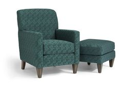 """Shop for Flexsteel Chair And Ottoman, 0410-10-08, and other Living Room Chairs at Callan's Furniture in St. Cloud - Waite Park, MN. 10 comes standard with Plush Cushion. 08 comes standard with Luxury Cushion. Ottoman dimensions 19""""x25""""x21"""". Standard wood finish Florentine (F)."""