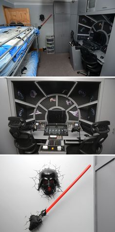 The ultimate bed room for young Star Wars fans #LukeSkywalker-JediKnight&FriendofCaptainSolo