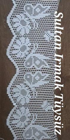 Crochet Borders, Crochet Chart, Filet Crochet, Knit Crochet, Crochet Toddler Dress, Crochet Clothes, Crochet Placemats, Crochet Doilies, Crochet Furniture