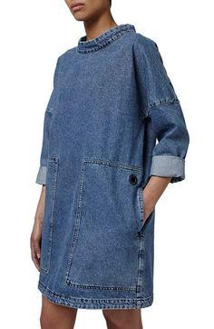 Topshop Boutique Denim Sailor Dress