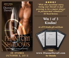 The Immortal Realm: 3 Kindle Giveaway! http://dianneduvall.blogspot.com/2012/10/3-kindle-giveaway.html#