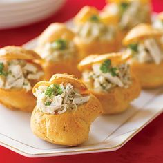 Stuffed cheese puffs - easy appetizer recipes - all you Inexpensive Appetizers, Easy Appetizer Recipes, Appetizer Ideas, Easy Recipes, Healthy Recipes, Recipes Dinner, Dinner Ideas, Easy Meals, Tapas