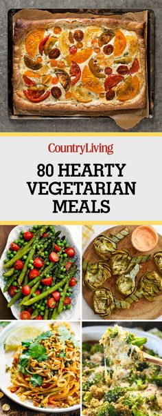 Hearty Vegetarian Recipes Even Meat-Eaters Will Love Need some ideas for Meatless Monday? Check out our best ideas for vegetarian recipes.Need some ideas for Meatless Monday? Check out our best ideas for vegetarian recipes. Easy Vegetarian Dinner, Vegetarian Recipes Easy, Vegetarian Cooking, Veggie Recipes, Cooking Recipes, Healthy Recipes, Easy Recipes, Dinner Recipes, Salad Recipes