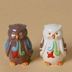 Jim Shore - Owl salt and pepper shakers.