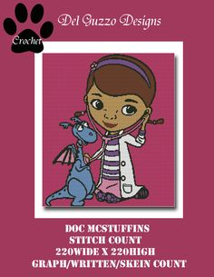(4) Name: 'Crocheting : Doc McStuffins Crochet Graph Pattern