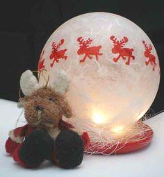 Leuchtkugel rote Elche