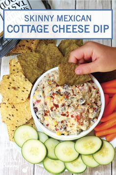This recipe for Skinny Mexican Cottage Cheese Dip is chock-full of flavor—we're talking avocados, black beans, corn, tomatoes, jalapeños, and sriracha sauce! Bring the spice to the party by checking out this appetizer dish for yourself.