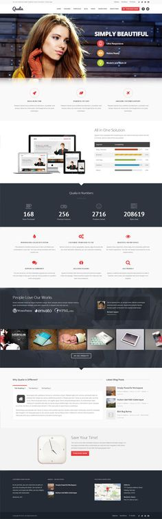 the basic scrolling page template: logo and navigation big pic masthead 3 round icons pics inverted section with stats  more icons etc footer