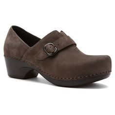 Dansko - Tamara Grey Nubuck $135. The Dansko Tamara shoe is part of the Ventura Collection, an update to the popular Dansko Sausalito family of footwear. Equipped with a flattering, angled topline and elastic goring over the instep for easy entry, this women's clog-style slip-on shoe features stitch-to-sole construction and is crafted from nubuck leather for a rich finish. The pillow-soft footbed wicks moisture to help maintain a dry, odor-managed interior.