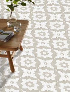 Vinyl Floor Tile Sticker - Floor decals - Carreaux Ciment Encaustic Campagne Tile Sticker Pack in Sand by QUADROSTYLE on Etsy https://www.etsy.com/listing/290120433/vinyl-floor-tile-sticker-floor-decals