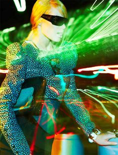 The Grazia Magazine 'Ray of Light' Editorial is Strikingly Futuristic trendhunter.com