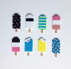 Hama icecream, icecreams, is, perleplade. By Sara Seir