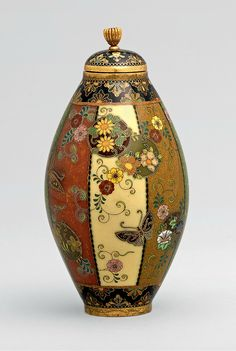 Namikawa Yasuyuki (並河靖之; 1845–1927), Covered bottle, Meiji or Taishō era, 19th–20th century. Cloisonné. Mary Griggs Burke Collection, gift of the Mary and Jackson Burke Foundation