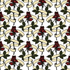 Red Roses fabric by whimzwhirled on Spoonflower - custom fabric