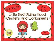 My Little Red Riding Hood Unit includes: Center ideas, Writing Activities, Story Cards, AND 16 Little Red Riding Hood printables: Word Cards-Word Search-Coloring-Story Map-What Happened?-Who Am I?-All About-True or False I also added a writing activity along with two cute craftivity page toppers that will brighten your classroom and excite your students.
