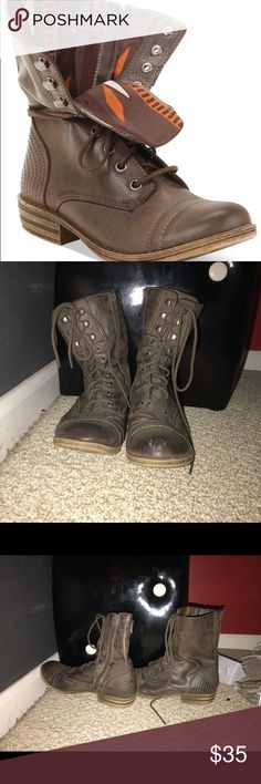 American Rag Boots American Rag Brown Boots with pattern on the inside. Barley worn and very comfortable to walk in. Price can be discussed. American Rag Shoes Ankle Boots & Booties