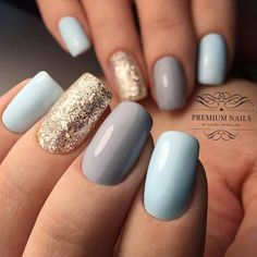 - Beauty Nails – DIY Nageldesigns # Nagellack # Gelnägel # Nageldesigns # … – Nagelideen – B - Spring Nails, Winter Nails, Hot Nails, Hair And Nails, Square Acrylic Nails, Uñas Fashion, Blue Fashion, Latest Fashion, Fashion Ideas