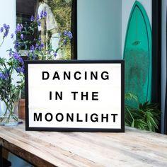 Dancing in the moonlight lightbox