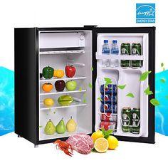 Single Door Refrigerator Small Freezer Cooler Fridge Compact 3.2 cu ft. Unit