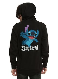 Zip hoodie from Disney's Lilo & Stitch with front and back Stitch designs. Cute Disney Outfits, Disney Inspired Outfits, Cute Outfits, Disney Clothes, Themed Outfits, Anime Outfits, Lilo And Stitch Costume, Stitch Tsum Tsum, Stitch And Angel