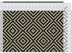 My first diamond pattern on 4 shafts - Media - Weaving Today