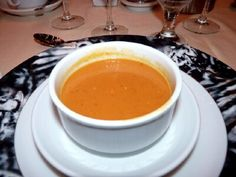 Pumpkin soup from carnival cruise line. This is my favorite appetizer on the cruise. I'm so excited to make this!! I love it!!!