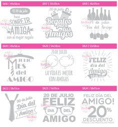 Vinilo Día del Amigo, vidrieras, vinilos decorativos para hogar y objetos, calcos, stickers, ploteo autos