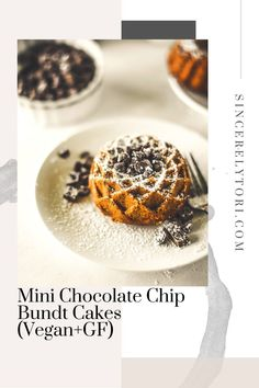 Mini Chocolate Chip Bundt Cakes (Vegan+GF) – Sincerely Tori Dairy Free Recipes, Gluten Free, Fast Healthy Meals, Little Cakes, Mini Chocolate Chips, Cake Ingredients, Bundt Cakes, Delicious Vegan Recipes, Food Allergies