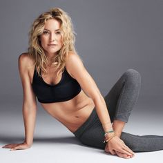 You can get Kate Hudson's flat, rock hard stomach with her pilates workout! This challenging fitness routine uses your lower and upper abs as well as obliques to target your muscles and sculpt a six-pack. Get a slimmer waist and beat belly bloat with 4 no-equipment-needed pilates moves.