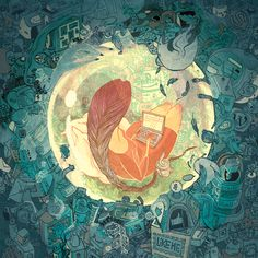 Palette! Very detailed/stylized illustration <3 ~ Victo Ngai