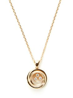 Happy Emotions Rose Gold & Diamond Pendant Necklace by Chopard at Gilt