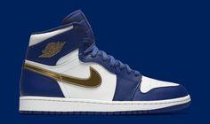 ec8e86cd66b Air Jordan 1 (I) Retro High Deep Royal Blue/Metallic Gold Coin-White ( Olympic…