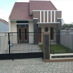 Image may contain: house, sky and outdoor House Gate Design, Door Gate Design, Small House Floor Plans, House Plans, Minimalis House Design, Style At Home, Tor Design, Philippine Houses, Latest House Designs