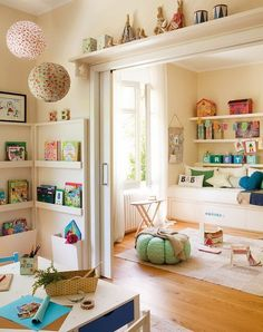 I would LOVE this pocket door layout for the boys room. When they are little, one area for sleep, one for play and close the door or leave it open.. when they get older they can have separate rooms!