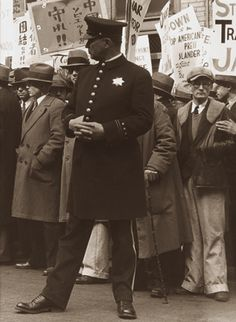 "Dorothea Lange - ""The General Strike, Policeman, San Francisco""  - 1934"