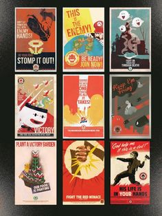 propaganda posters from the perspective of bowser