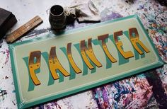 Traditional Hand Painted ~PAINTER~…finish!!! colors:1shot 👊🖌 Maße:ca 24x55cm painted by switschi Switschis Sign Atelier Leipzig ~2017~ GER. #vintagetype #alwayshandpaint #SignPainter #Lettering...