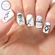The Mortal Instruments nail art by Artsomenails