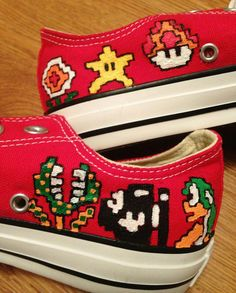 b0ab3b32100 Mario Luigi Hand Painted Converse Shoes by CandysCustomPaints