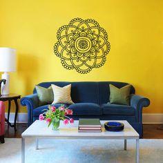 Mandala Wall Decal Namaste Flower Mandala by SuperVinylDecal