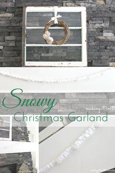 Snowy Christmas Garl