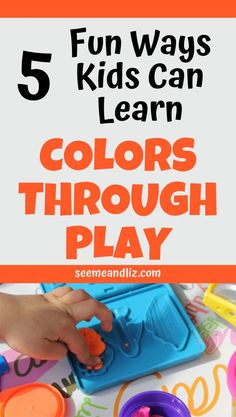 Wondering about ways to teach colors to toddlers? It's actually pretty simple and can easily done through play. Learn about 5 fun play based activities that are perfect for toddlers and preschoolers to learn their colors! Preschool Learning Toys, Learning Toys For Toddlers, Educational Activities For Kids, Play Based Learning, Learning Through Play, Toddler Learning, Toddler Preschool, Fun Learning, Toddler Activities