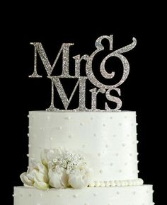 """Cheap cake topper wedding, Buy Quality cake topper candles directly from China cake toppers birthday cakes Suppliers: Glitter Silver """" Mr & Mrs """" Wedding Cake Topper with free shpping for wedding cake decorations Marie's Wedding, Mr And Mrs Wedding, Glitter Wedding, Wedding Cake Toppers, Elegant Wedding, Dream Wedding, Wedding Ideas, Trendy Wedding, Wedding Gifts"""